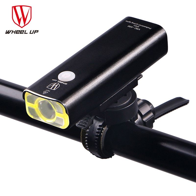 WHEEL UP Usb Rechargeable Bike Light Front Handlebar Cycling Led Light Battery Flashlight <font><b>Torch</b></font> Headlight Bicycle Accessories