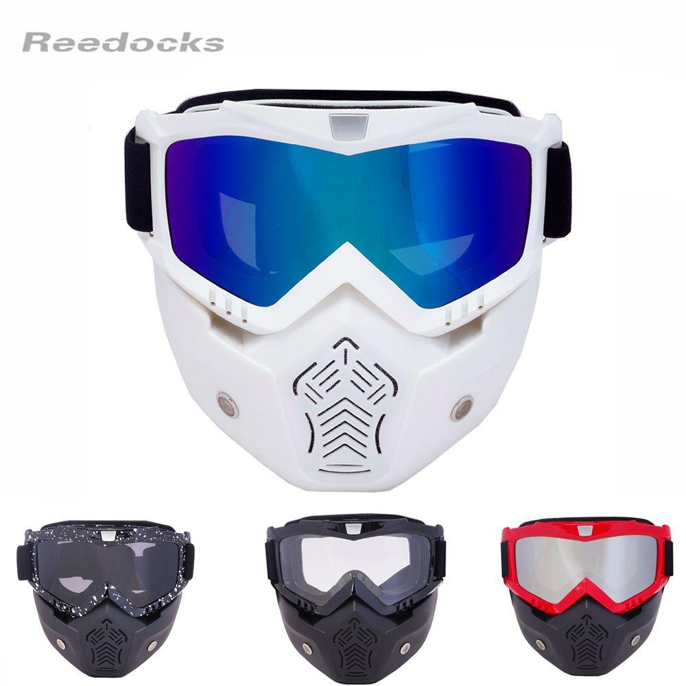 REEDOCKS Nuevo Modular Máscara Desmontable Gafas de Boca Filtro de Vidrio Hombres Mujeres A Prueba de Viento de Esquí Nieve Snowboard gafas de Esquí Gafas de Pesca