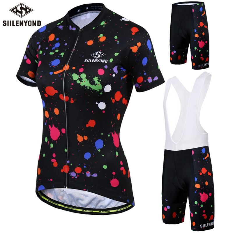 SIILENYOND Summer Cycling Clothing Short Sleeve Cycling Jersey Set Bicycle Clothing Breathable Bike Jersey Maillot Ciclismo
