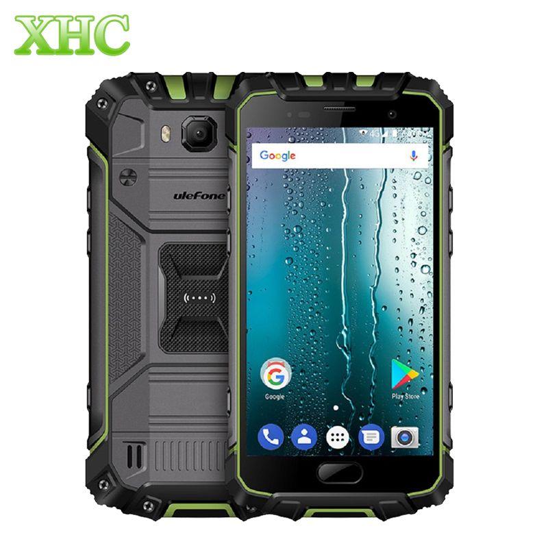 LTE 4G Ulefone Armor 2 5.0'' FHD Display Smartphones 6GB+64GB IP68 Waterproof Octa Core 13MP 16MP Dual SIM GPS NFC Mobile Phones