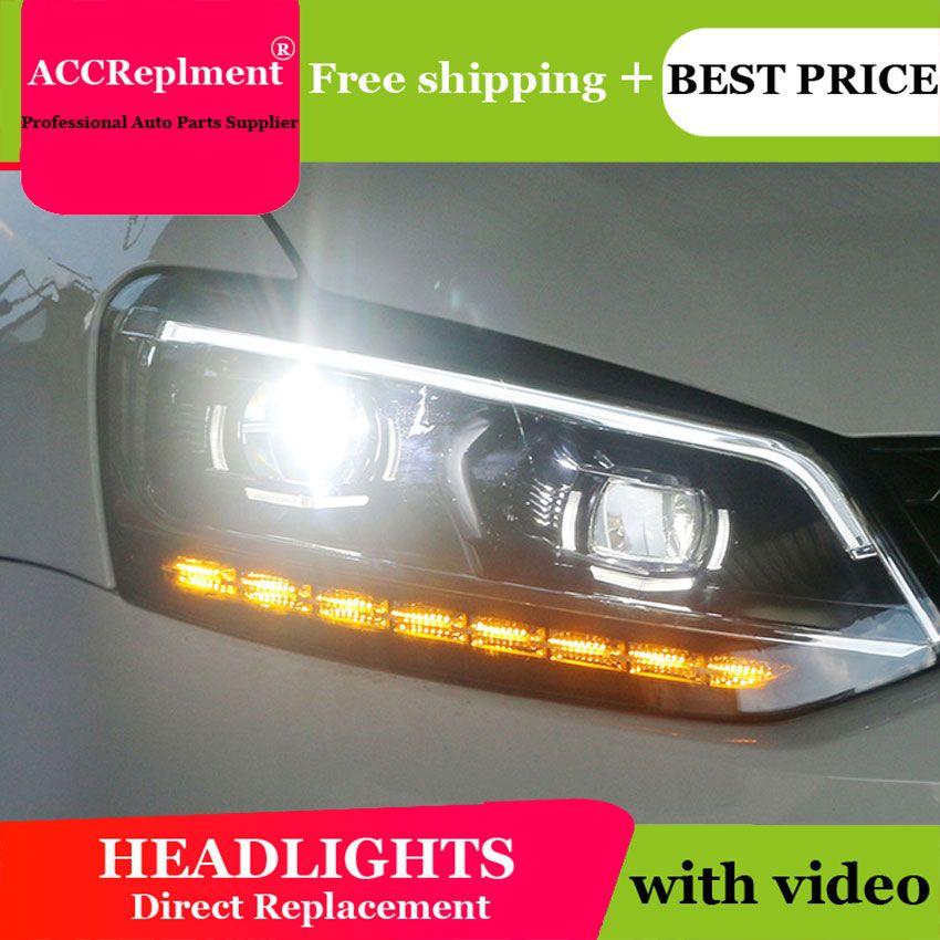 Auto styling Für VW polo scheinwerfer angel eyes 2011-2018 Für VW polo LED licht bar Q5 bi xenon objektiv h7 xenon tag licht laufschuhe