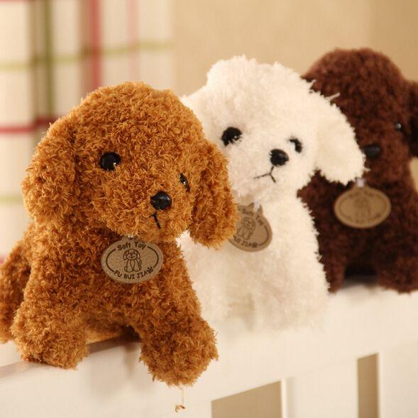 20 CM animaux Simulation chien en peluche dame jouets en peluche poupées
