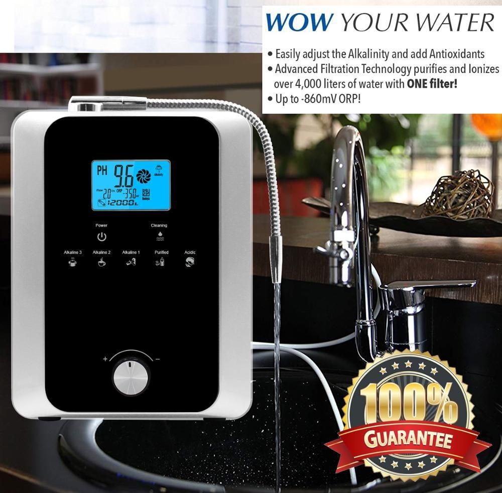 Hight Qualität Wasser Ionisator Maschine Produziert pH 3-11,0 Alkalische Säure Bis zu-800mV ORP Auto-Reinigung LCD Touch Wasser Filter