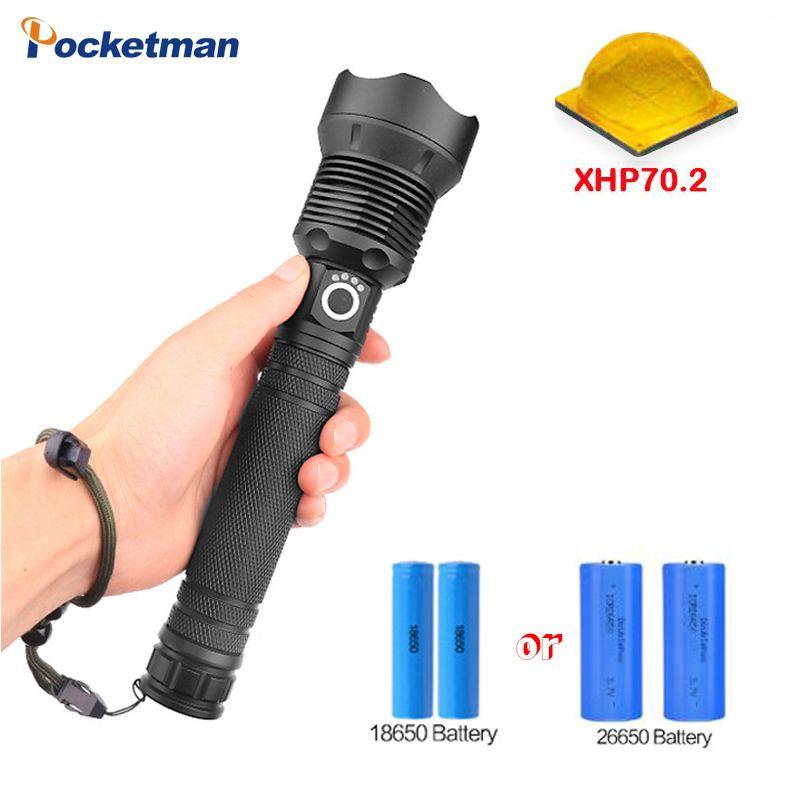 Dark Star serie XHP-70.2 LED mächtigsten led taschenlampe Zoom taschenlampe VERWENDEN 18650 ODER 26650 akku Taschenlampe taschenlampe
