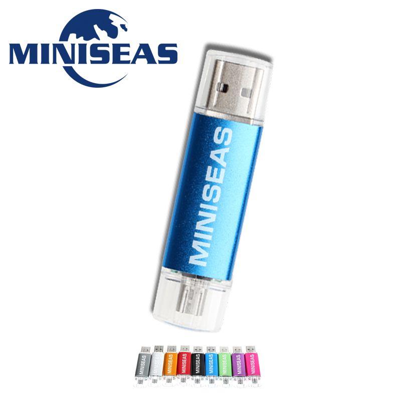 Miniseas Usb Flash Drive Fashion 9 Colors OTG Phone Pen Drive 8GB 4GB Pendrive 64GB 32GB 16GB Memory Usb Stick Flash Drive