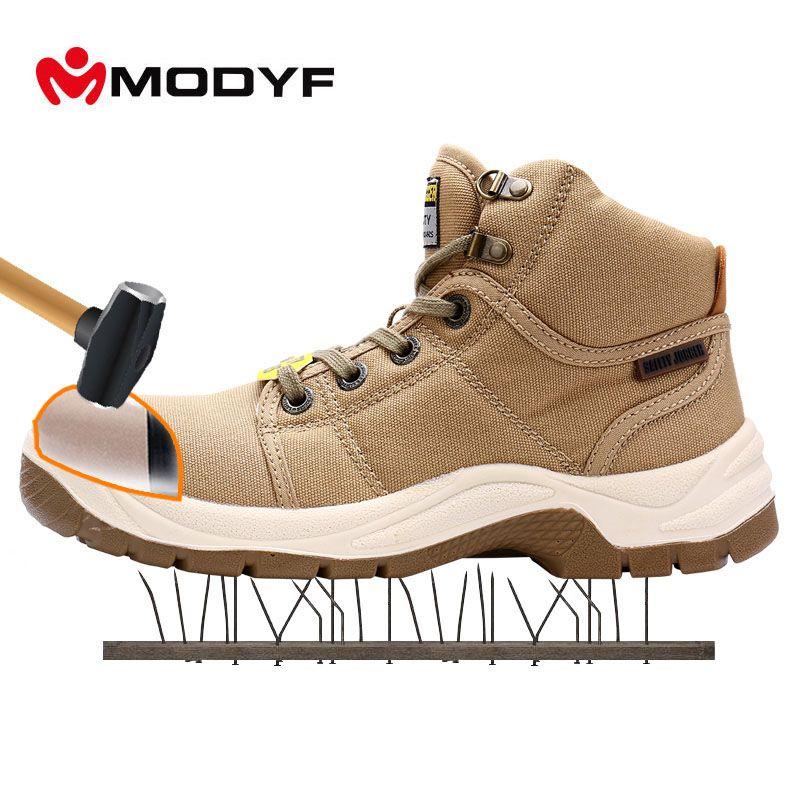MODYF Men's DESERT Steel Toe Cap Work Safety Boots Fashion Comfortable Outdoor Protective Footwear Sneaker
