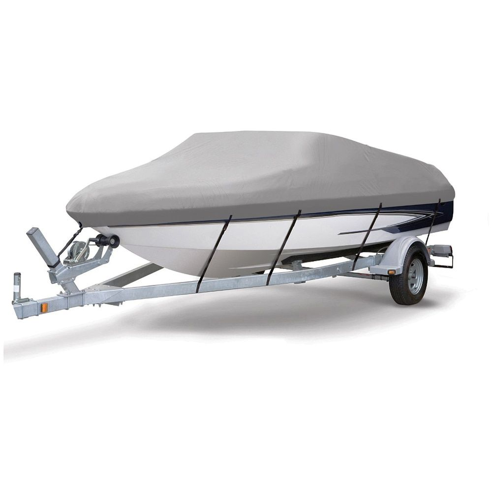 600D PU Coated Heavy Duty Trailerable Boat Cover,25-28'x108