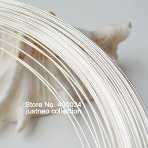 Argent fil, 0.6mm 22 jauge ronde solide 925 en argent sterling fil, threading collier bijoux en argent sterling résultats, 1 mètre