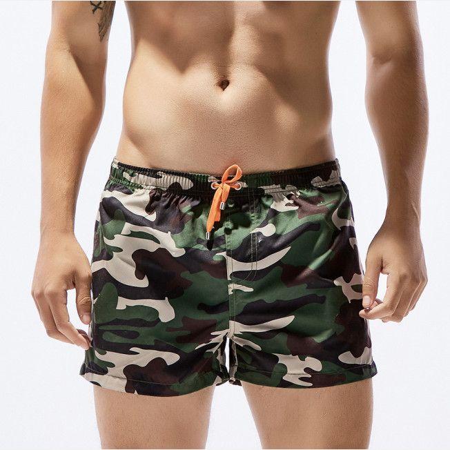 Камуфляж Для мужчин Пляжные шорты для будущих мам пляжное Купальники для малышек быстросохнущая человек бермуды купальный носить короткие...
