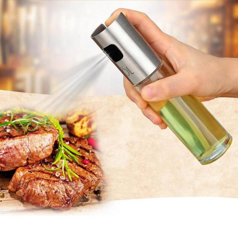 Glass Olive Oil Sprayer Oil Spray Bottle Barbecue Water Vinegar Sprayer fuel Injector Glass Pot for Kitchen Tools Accessories