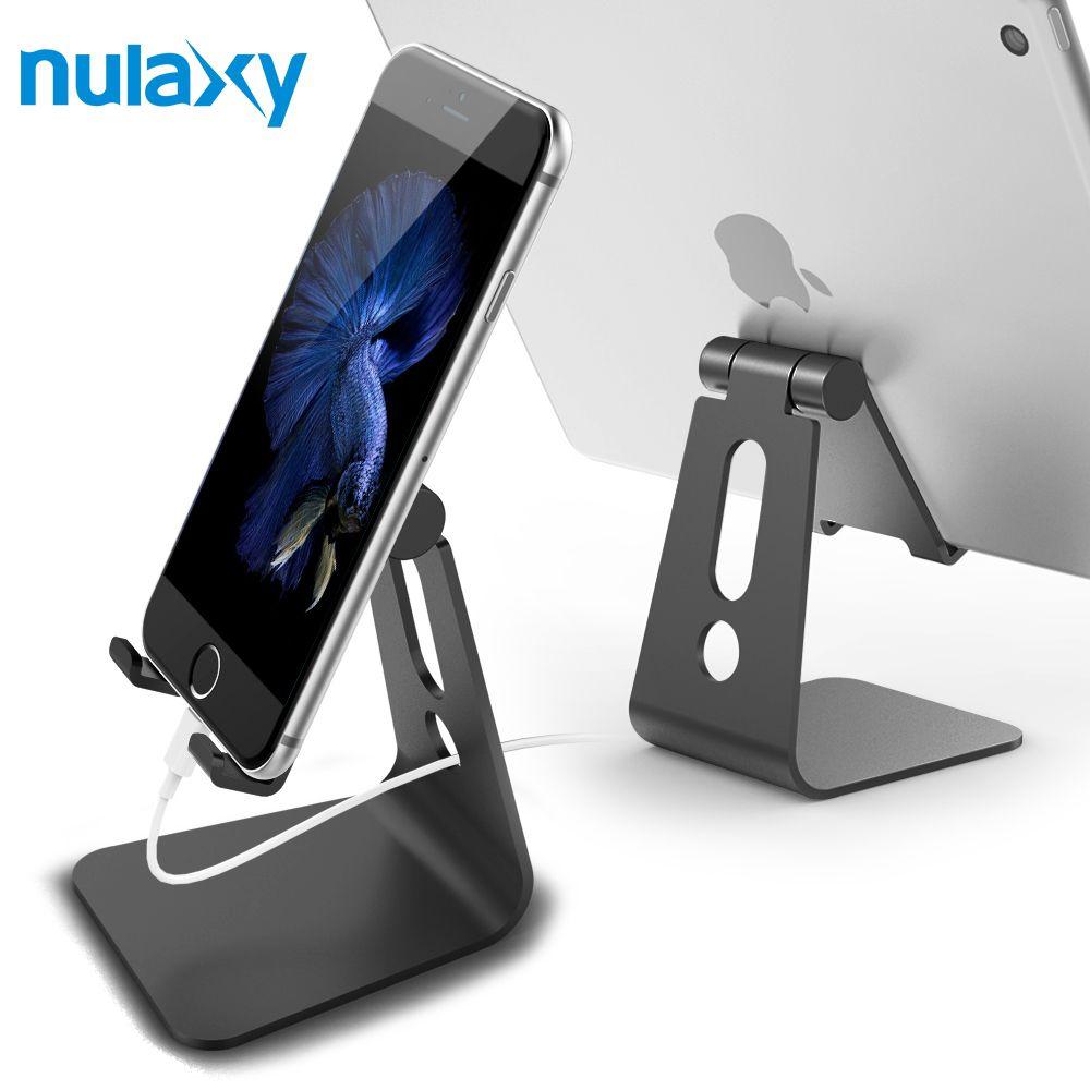 Nulaxy Support de Téléphone Universel Pour Téléphone Portable En Aluminium de Téléphone de Bureau Charnière Réglable Supports de Tablette Pour iPhone 6 7 iPad