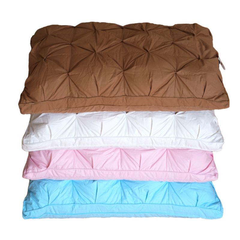 TUTUBIRD Goose/duck Down Bedding Pillow White/Blue/Pink/Brown Cotton Cover Soft French Style Bread Shape Sleeping pillow Filler