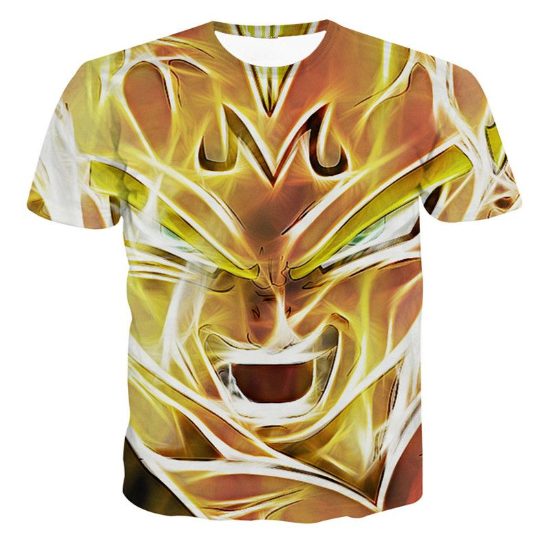 New Arrive Anime Dragon Ball Z Super Saiyan t shirts Anime Vegeta 3D t shirt Women Men Summer Casual tees CTE-008
