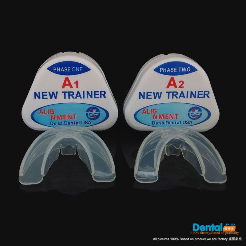 Обновленная версия комплект (A1 и A2) зубной Ортодонтическое бытовой Тренер выравнивания Подтяжки mouthpiecesteeth прямо/выравнивание