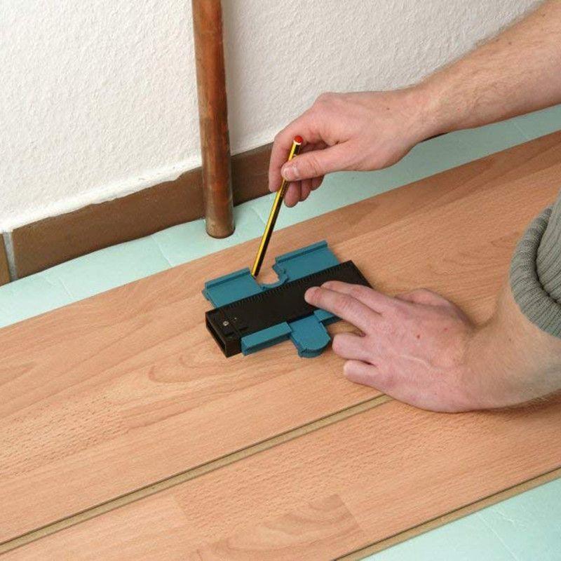 Gabarit de copie de profil jauge de Contour duplicateur en plastique Standard 5 largeur outil de marquage du bois carrelage stratifié outils généraux