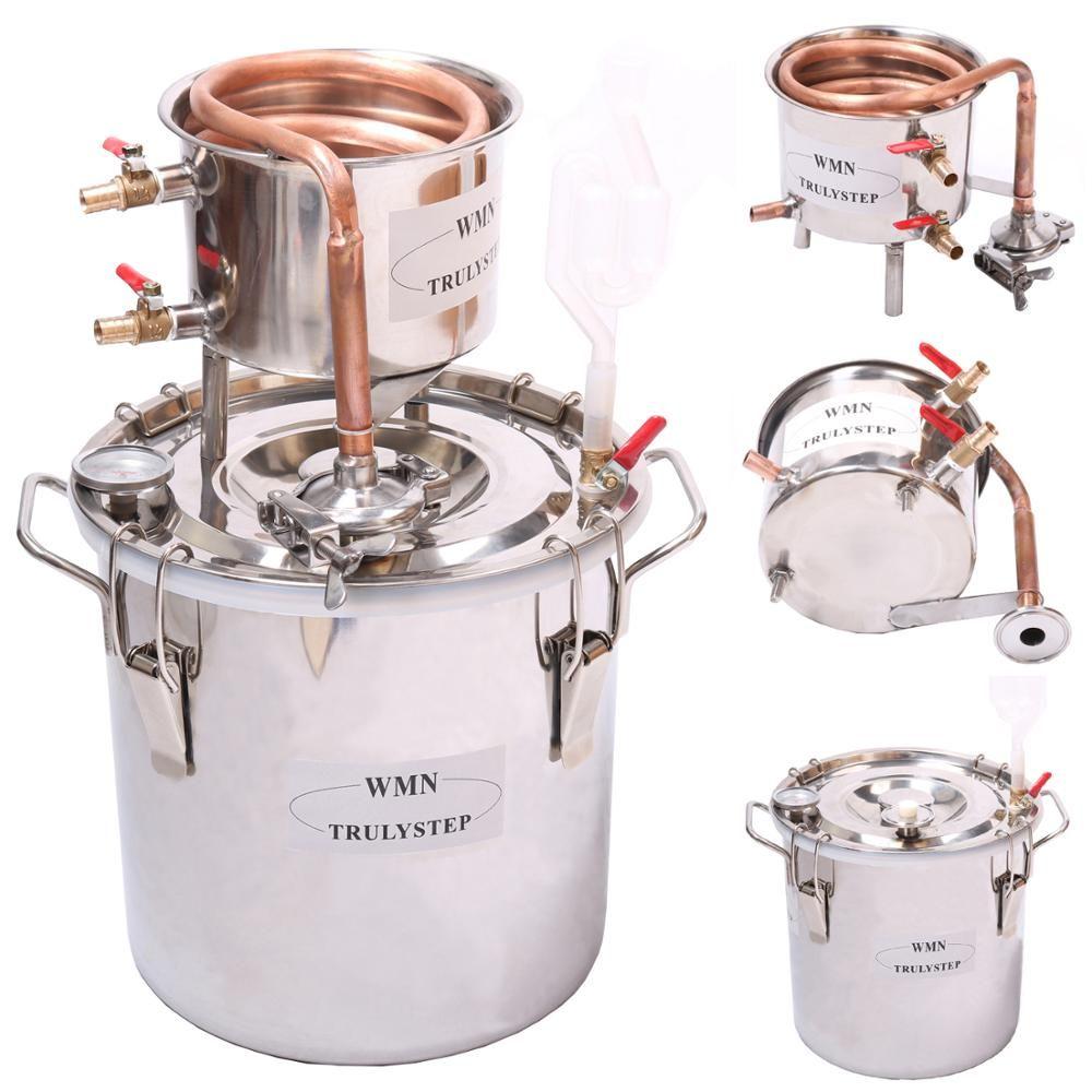 New Home 8 Gal/30 Liter Alkohol Whisky Wasser Cooper Brennerei Kühler Moonshine Noch Edelstahl Kessel Fass Geistern Maker