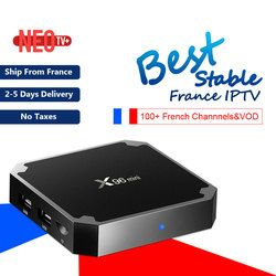 Français IPTV Boîte X96 mini 4 k Android TV Box avec 1200 + IPTV Europe France Arabe afrique Tunisie Maroc football Smart IP TV Box