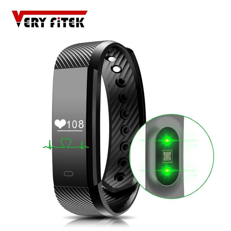 ID115 HR Smart Wristbands Heart Rate Monitor Smart Bracelet  Fitness Tracker Smartband Waterproof Pedometer for Phone Bluetooth