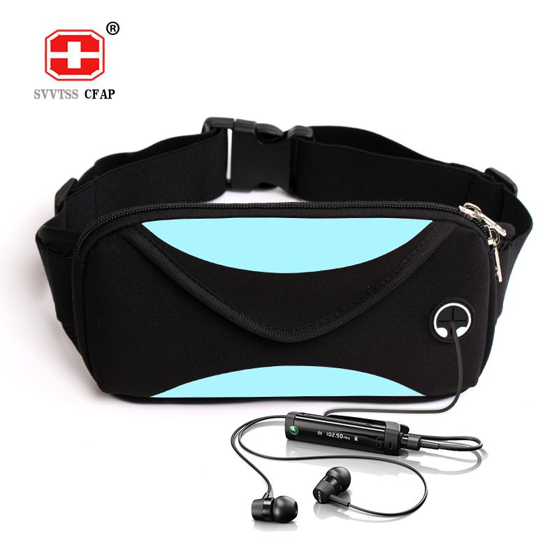 Fashion unisex waist pack men waterproof fanny pack women belt bum bag waist bag male phone wallet Pouch Bags Patchwork black