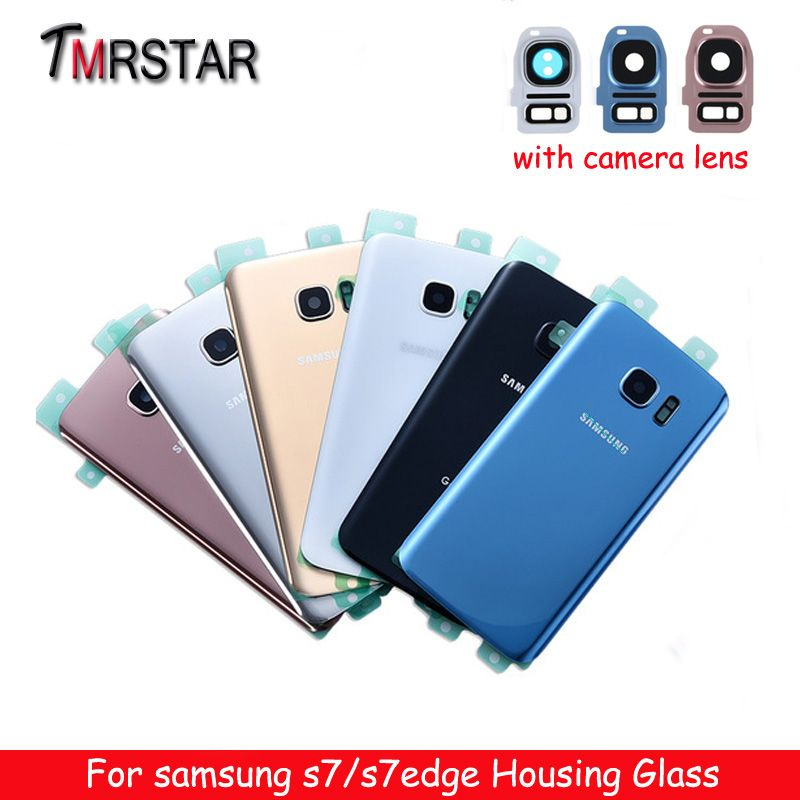 For SAMSUNG Galaxy S7 G930F g930 /S7 EDGE G935F g935 Back Glass Battery Cover Rear Door Housing Case Chassis
