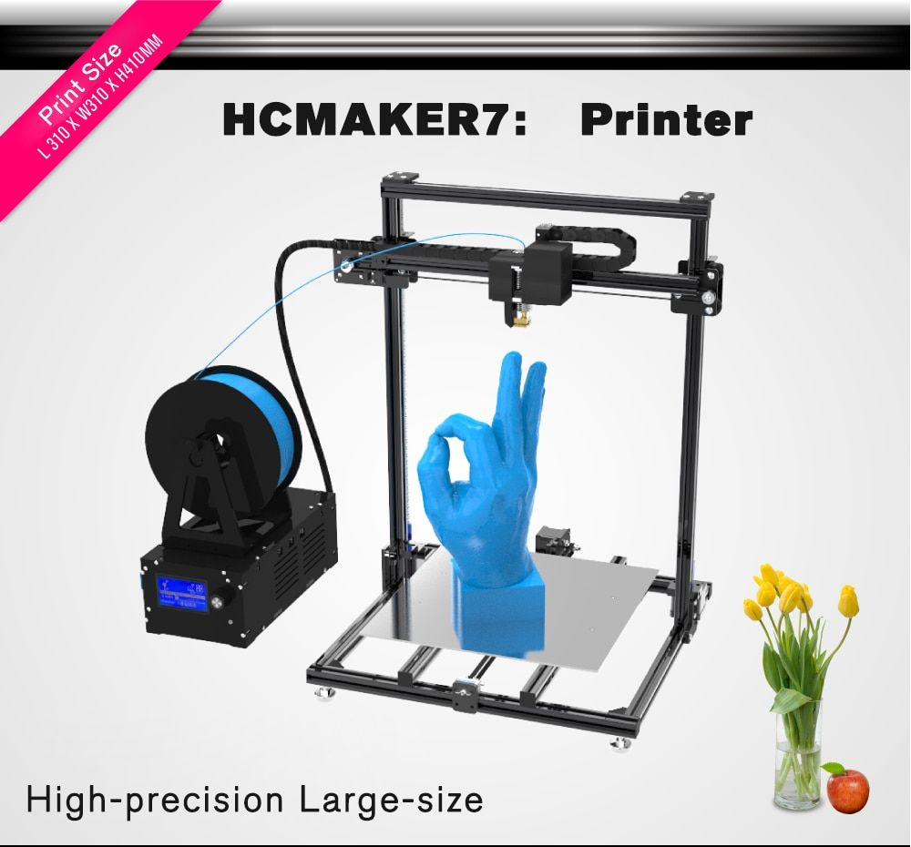 3D Printer Plus Size HCMaker Pulley Version Linear Low Noise High Precision 3D Printer DIY High Quality Printer 3d