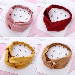 Mode Femmes Noeud Fleur Bandeau Croix Turban Élastique Bandeau Head Wrap Filles Cheveux Accessoires bandes de Cheveux pour les Femmes Bandanas