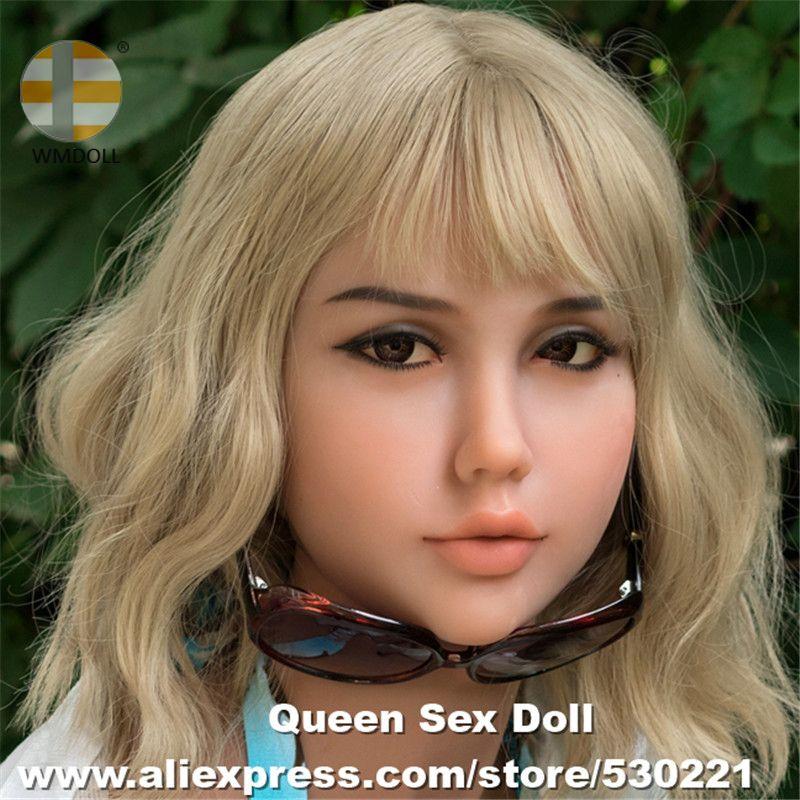 WMDOLL Top Qualität #233 Echt Oral Sex Kopf Voller Silikon Sex Puppe Köpfe für Realistische Erwachsene Liebe puppe Schaufensterpuppen sexy Spielzeug