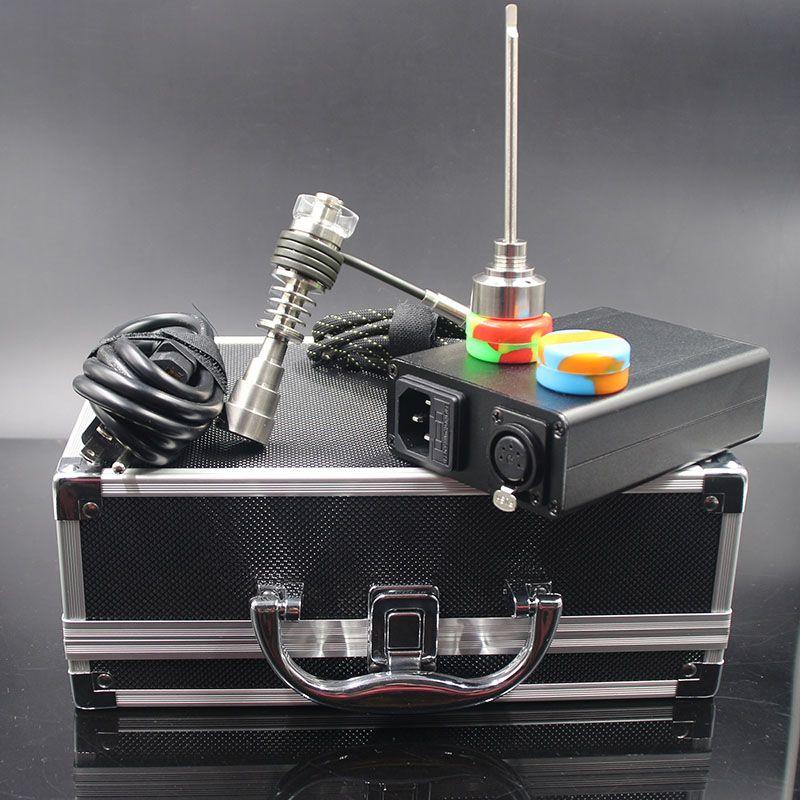 Новые enail dab комплект pid электрический ногтей с другой стиль стекла бонг Titanium ногтей carb Cap нагревателя для затяжками водопроводных труб