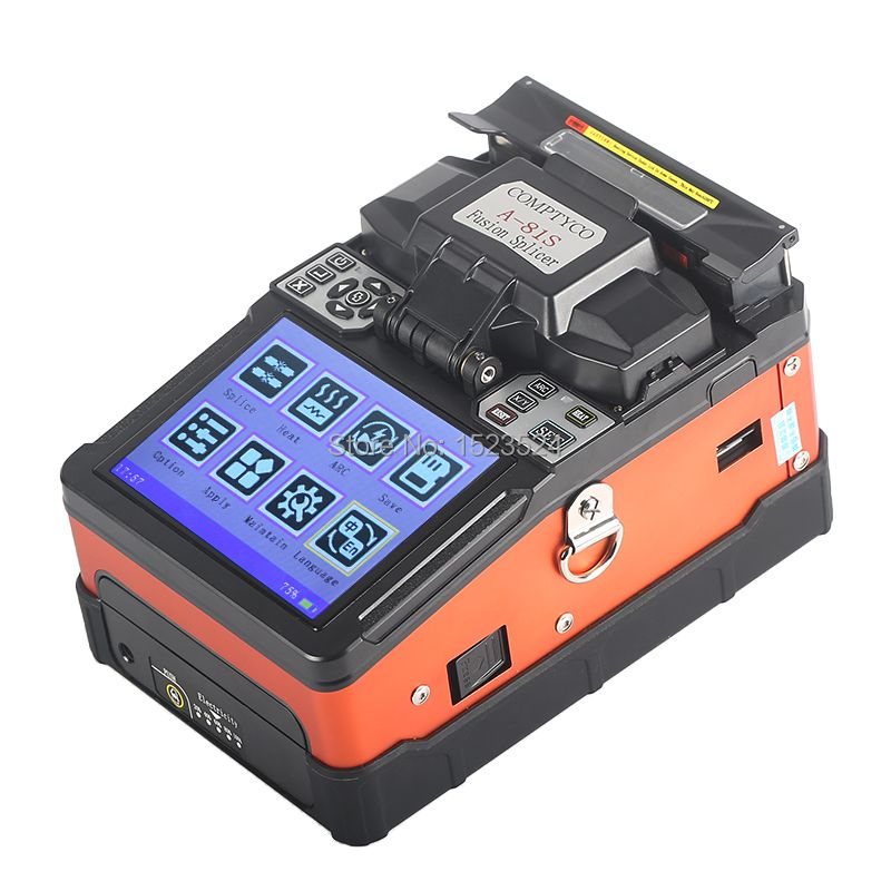 A-81S Orange Voll Automatische Fusion Splicer Maschine Fiber Optic Fusion Splicer Spleißen Maschine