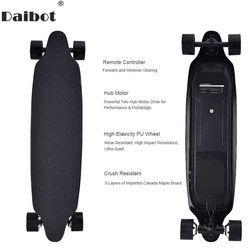 Daibot Electric Scooter untuk Dewasa 4 Roda Skuter Listrik 40Km/Jam Dual Hub Motor Remote Longboard Skateboard Listrik