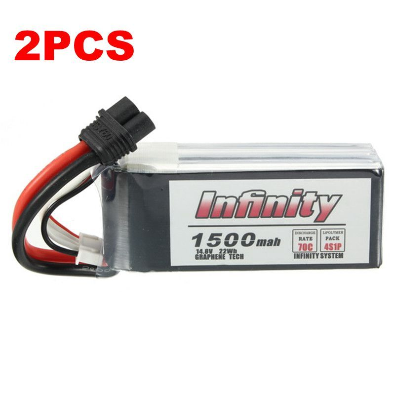 2PCS for Infinity 4S 14.8V 1500mAh 70C Graphene LiPo Battery XT60 Plug 2018 Latest Batch Support 15C Boosting Charger For Racer