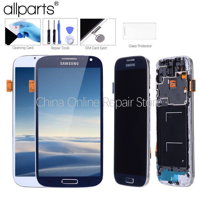 5,0 ''Super IPS LCD für SAMSUNG Galaxy S4 Display LCD mit Rahmen GT-i9505 i9500 i9505 i337 i9506 i9515 Touch screen Digitizer