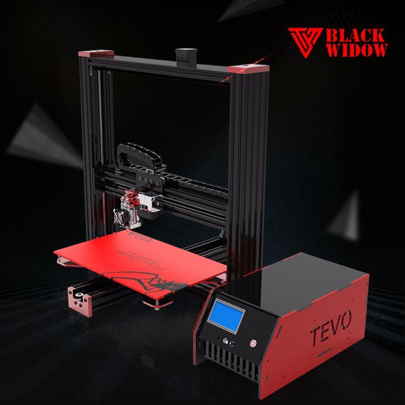 2017 New TEVO Black Widow Large Printing Area 370*250*300mm OpenBuild <font><b>Aluminium</b></font> Extrusion 3D Printer kit with MKS Mosfet