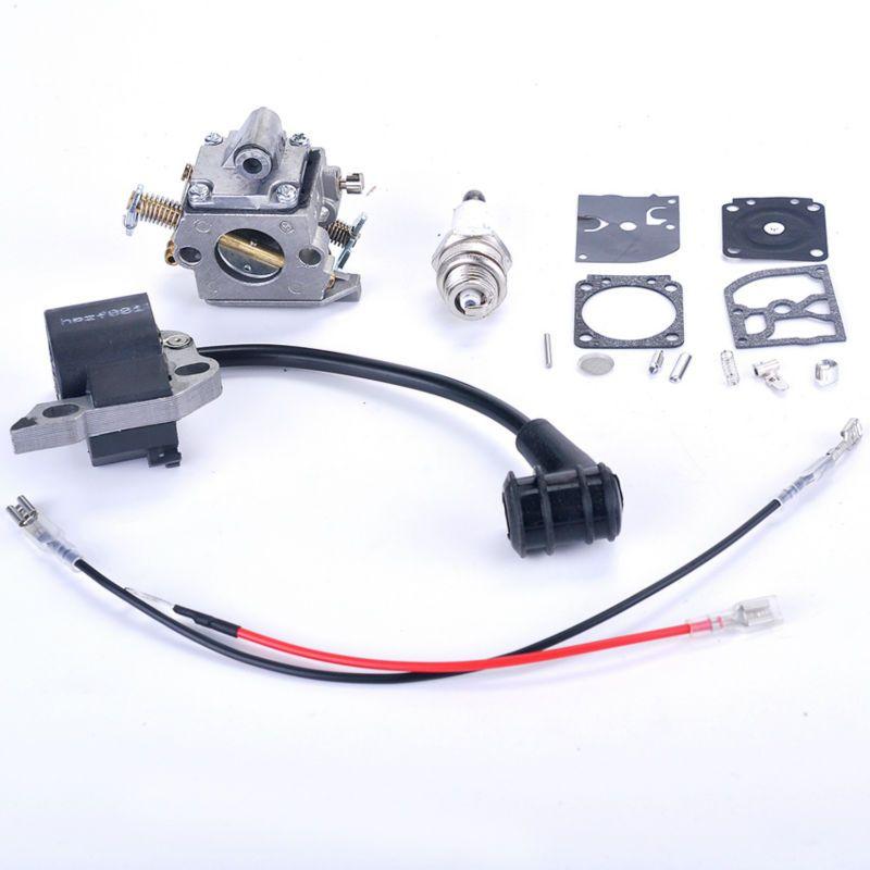 Carburador + Junta + Bujía Motosierra Bobina de Encendido + Reparación piezas Para STIHL 017 018 MS 170 MS 180 Carb Carburador