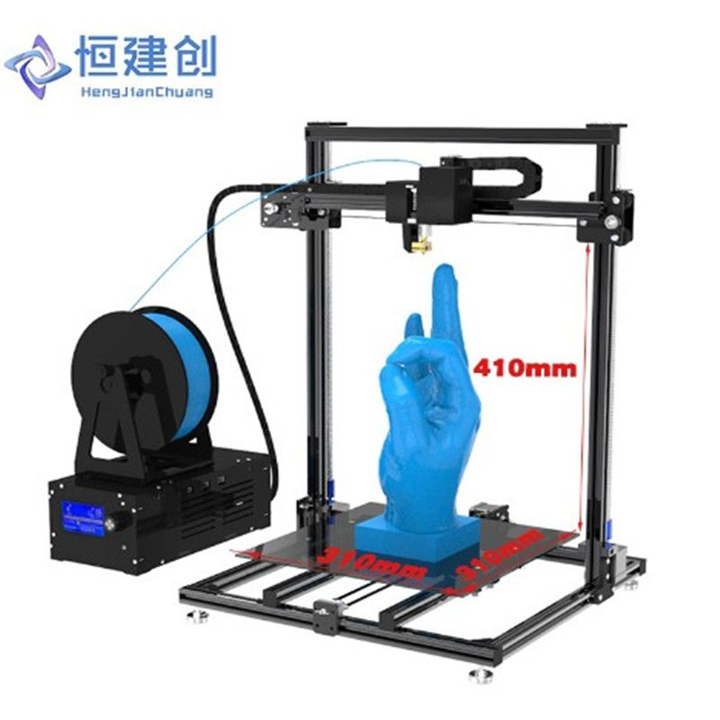 3D Printer Large Size Dual Drive Double Y axis track + Double Z axis Stable And Reliable 3D Printer DIY High Precision Hcmaker 7