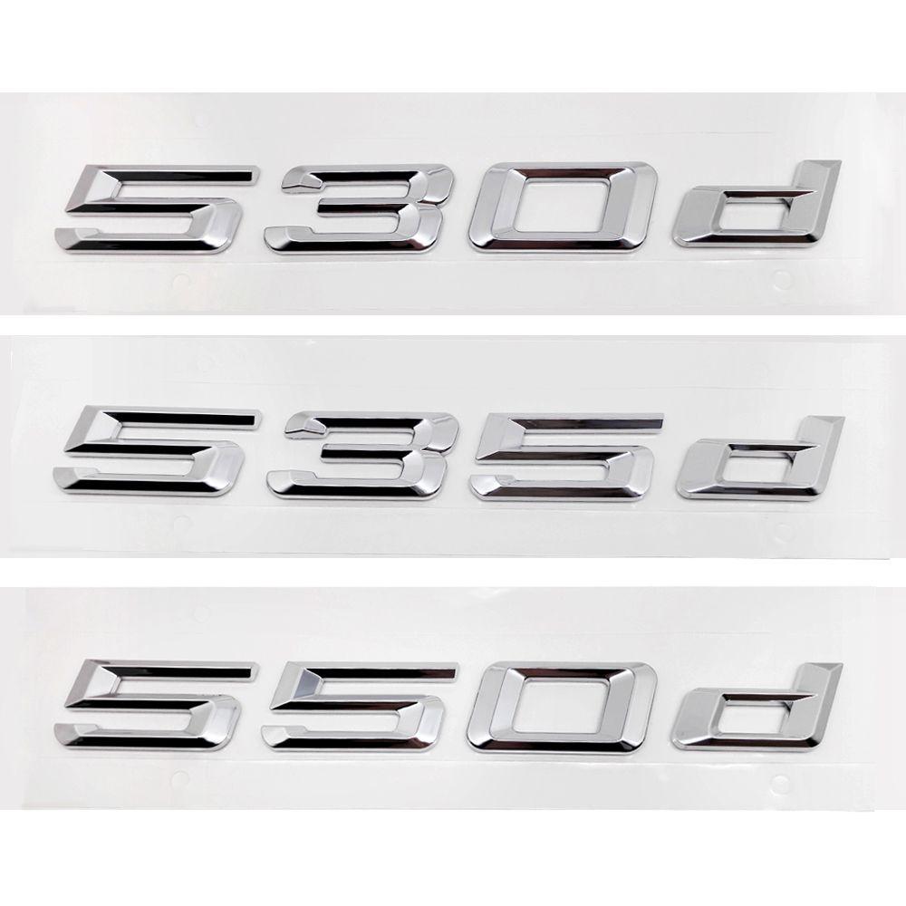 Für Bmw 5 Serie 530d 535d 550d E12 E28 E34 E39 E60 E61 F10 F11 F07 Kofferraum Alphabet Buchstaben Abzeichen Emblem Logo aufkleber