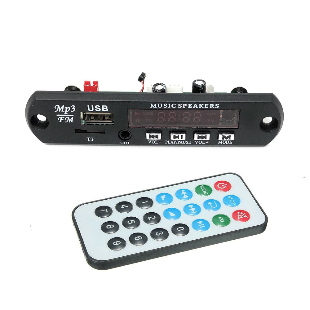 5v 12v Bluetooth 4.2 MIC Audio Module MP3 WMA Player MP3 decoder with Board Module TF Card Slot / USB / FM / remote display