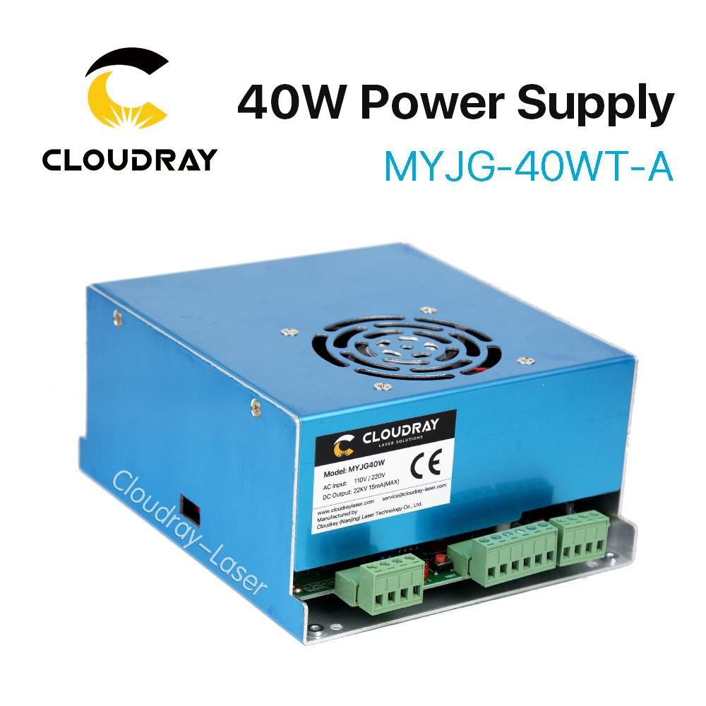 Cloudray 40W CO2 Laser Power Supply MYJG 40WT 110V/220V for Laser Tube Engraving Cutting Machine Model A