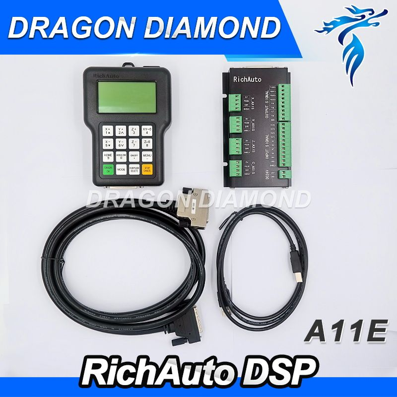 CNC Router Machine Top quality advanced RichAuto A11 CNC DSP controller A11S A11E 3 axis replace DSP 0501 controller