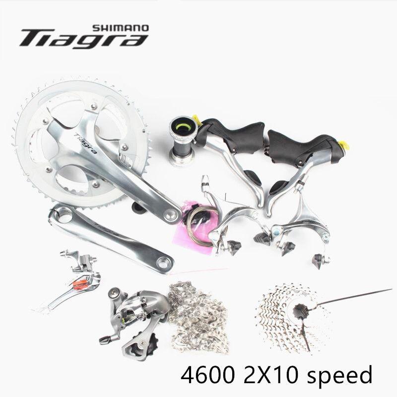 Shimano TIAGRA 4600 Groupset 2x10 S 20 S Geschwindigkeit 165/170/172,5/175mm 52 -39 T/50-34 T für Rennrad Fahrrad Update von 4500
