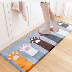 Hot Sale Cat Dicetak Keset Dapur Karpet Lantai MAT Anti-Slip Pintu Mat Air Penyerapan Karpet Toilet Tapete Karpet serambi Keset