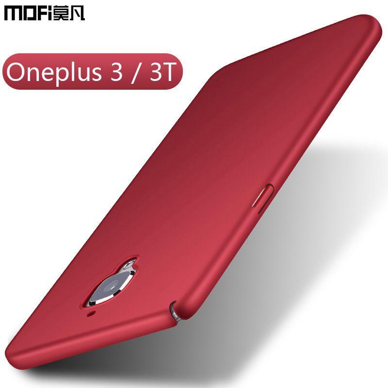 Oneplus 3 cas oneplus 3 3 T cas couverture mofi ultra mince mince funda noir bleu rouge de protection cas un plus 3 t 3 t oneplus 3 cas