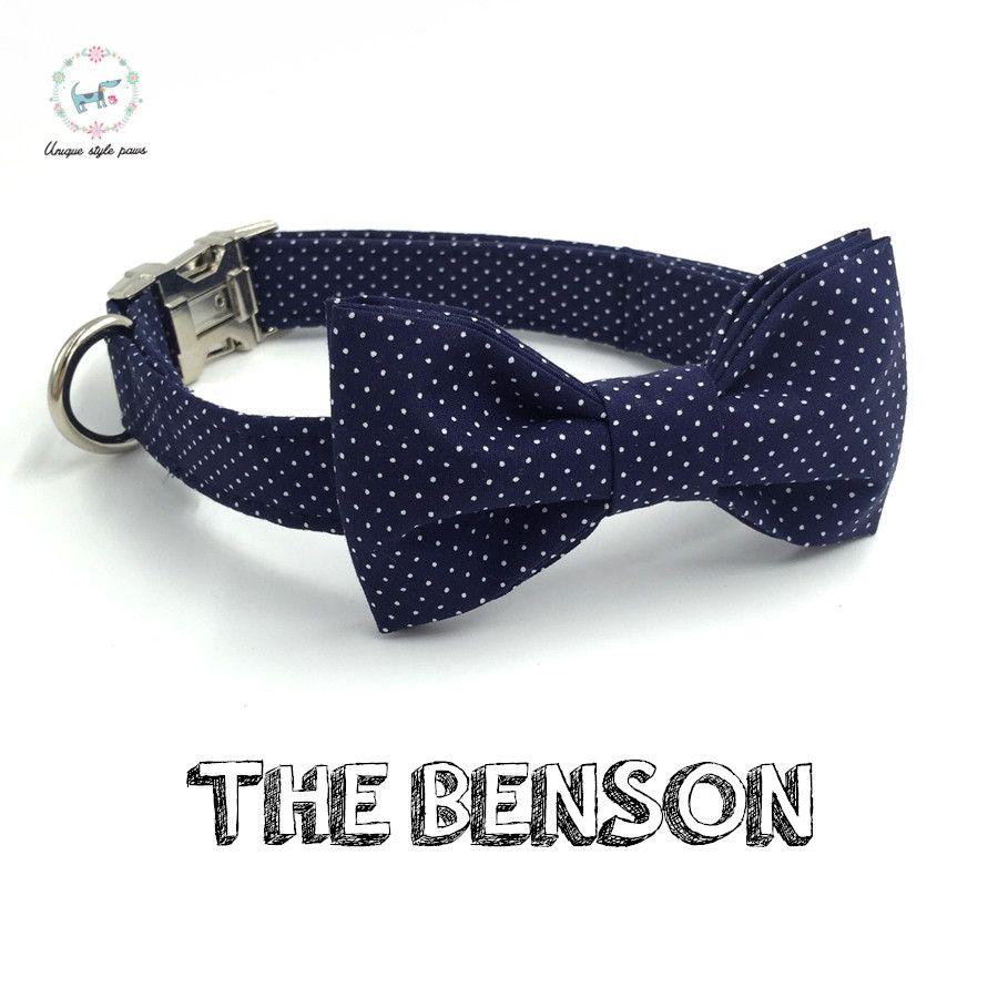 Dot collier de chien noeud papillon personnalisé réglable collier de chien pour animaux de compagnie chiot designer produit chien et chat collier XS-XL accessoires pour animaux de compagnie