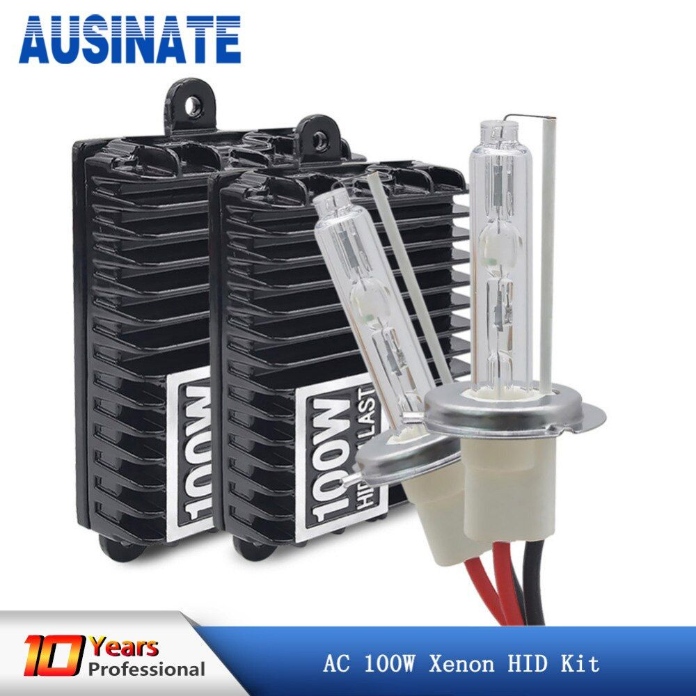 Xenon H7 H4 H1 H11 100W Car Headlight Bulbs H8 H9 H10 9005 HB3 9006 HB4 Hid Xenon Kit 4300k 5000k 6000k Light Bulbs for Cars