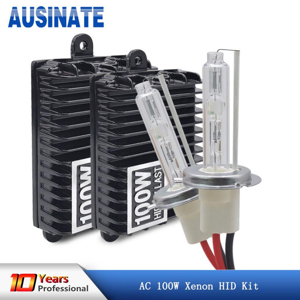 Xenon H7 H4 H1 H11 100W Car Headlight Bulbs H8 H9 H10 9005 HB3 9006 HB4 Hid Xenon Kit 4300k 5000k 6000k Light Bulbs for Cars