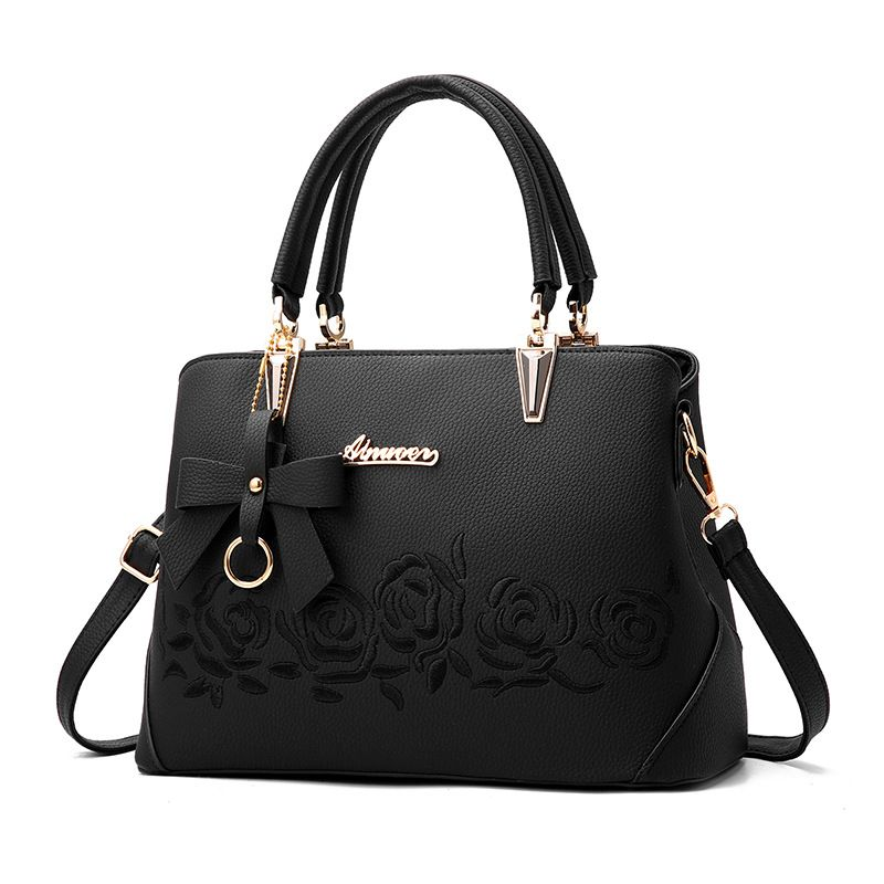 Famouse brand shoulder bag female flower Rose Printing handbag for women messenger bags envelope crossbody bag Blue Pink Black