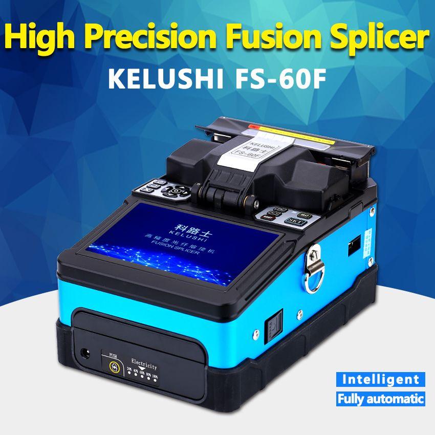 KELUSHI FS-60F Automatische Smart Optische Faser Fusion Splicer FTTH Optische Faser Schweißen Spleißen Maschine Intelligente