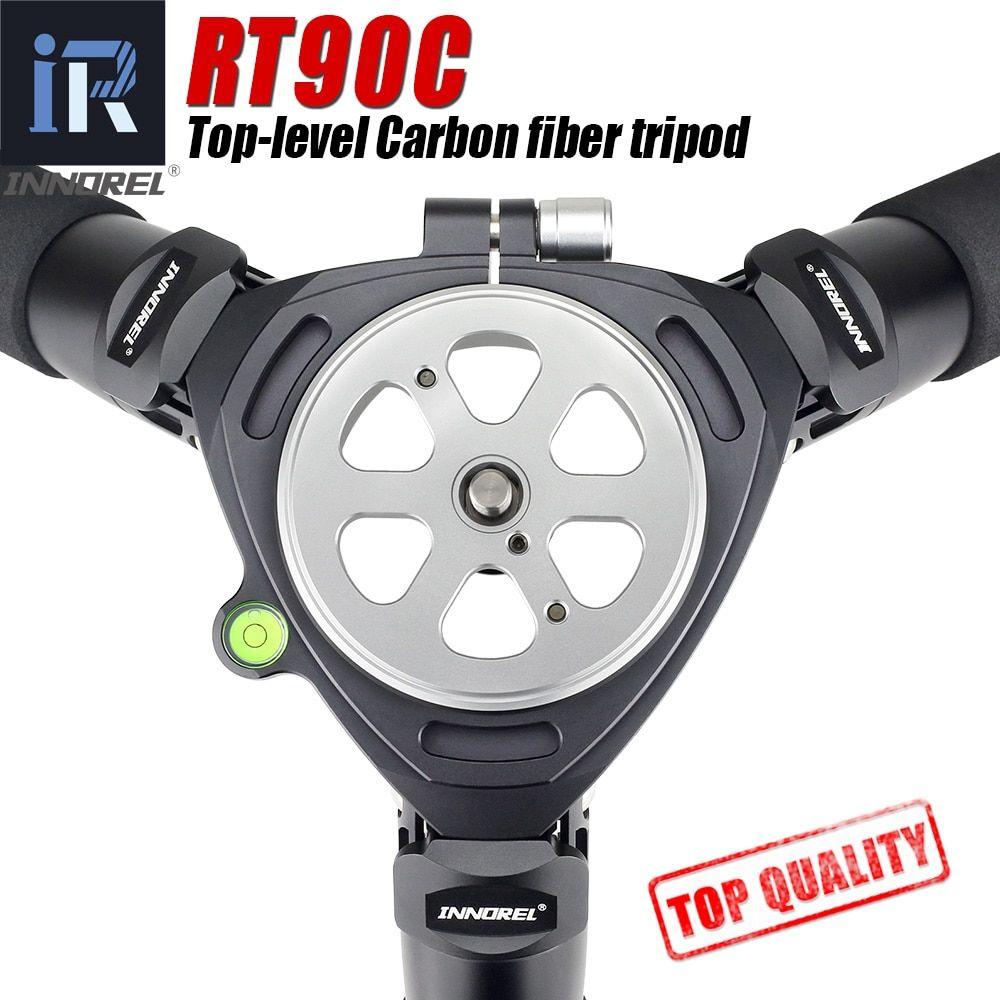 RT90C top-level Carbon Fiber Tripod professional Birdwatching heavy duty camera stand 40mm tube 40kg load 75mm bowl adapter