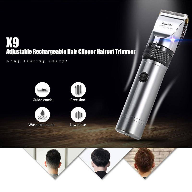 RIWA X9 Professional Hair Trimmer Electric Hair Clipper Trimmer Hair Cutting Shaving Machine Hair Cutter Shaver for Men-EU PLUG