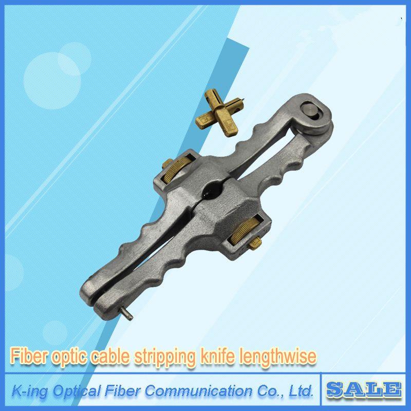 Livraison gratuite couteau à ouverture longitudinale gaine longitudinale câble découpeuse Fiber optique câble décapant SI-01 coupe-câble